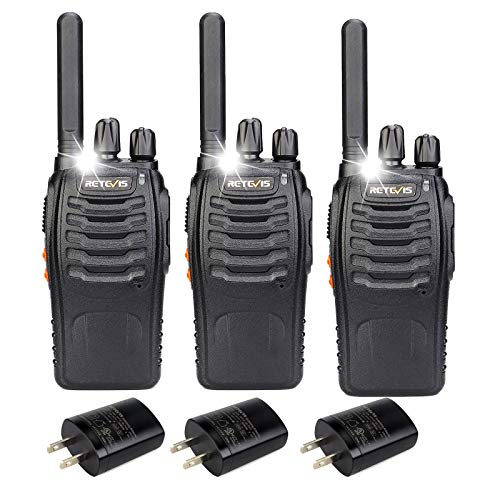 Retevis H-777 Walkie Talkies for Adults Emergency Flashlight 16CH Hand Free Rechargeable Two Way...