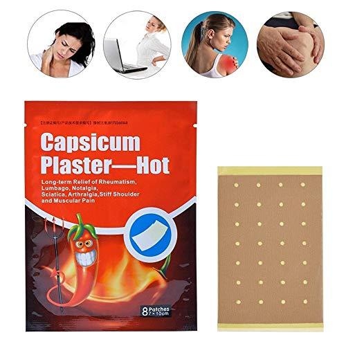 32 Stück Schmerzlinderung Patch Wärmepflaster Massage Putze Pfeffer Ferninfrarot Analgetische Paste Patch Schmerzlinderung Entspannende Hals Schulter Taille und Bein Arthritis Schmerzlinderung