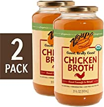 Organic Chicken Broth by Zoup! – All Natural, Gluten Free, Non GMO, Fat Free Organic Chicken Broth - Great for Stock, Bouillon, Soup Base or to Drink, 2-pack of 31 oz Jars
