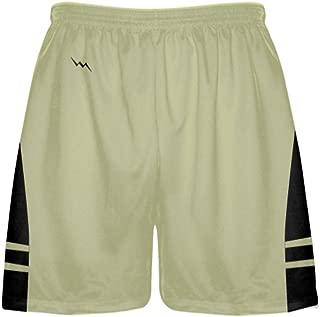 LightningWear Vegas Gold Black Boys Lacrosse Shorts - Mens Lax Shorts