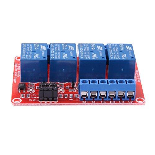 HQYXGS Salvationstay-Relaismodul, 4-Kanal-12-V-Relaismodul mit Optokoppler H/L Level Triger für Arduino