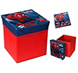 SPIDERMAN - Boîte pouf de rangement - 31x31cm - 8Kg - Rouge