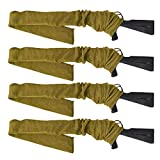 GUGULUZA Calcetines de punto tratados con silicona para rifles, 52 pulgadas, paquete de 4 unidades (bronceado)