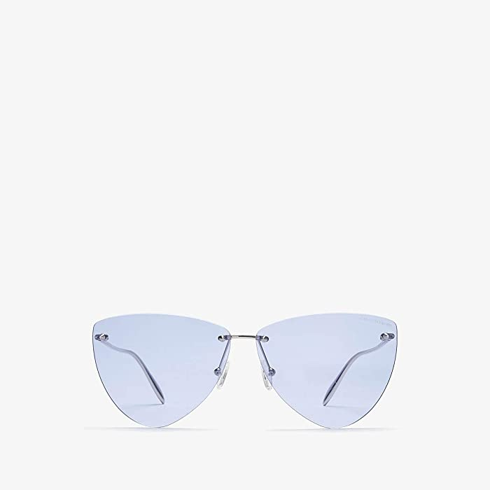 Alexander McQueen  AM0103S (Silver/Violet) Fashion Sunglasses