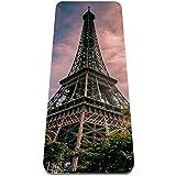 nakw88 Esterilla de gimnasia plegable de la Torre Eiffel Paris, antideslizante, para perder peso, impermeable, para gimnasio, pilates