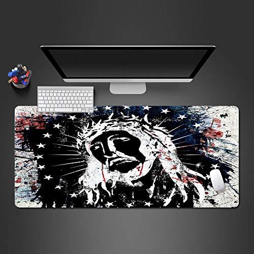 MSYPNML Alfombrilla Ratón Grande Gaming Color Graffiti héroe Personaje XXXL 1000 x 500 x 8 mm con Base de Goma Antideslizante para Gamers Ordenador PC y Laptop Chico Chica