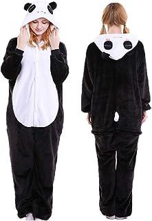 Pijama Fantasia Kigurumi Panda Macacão com Capuz Unissex