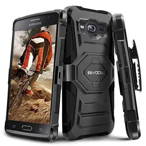 Galaxy On5 Case, Evocel [New Generation Series] Belt Clip Holster, Kickstand, Dual Layer for Samsung Galaxy On5 (Model No G550), Black (EVO-SAMON5-XX01)