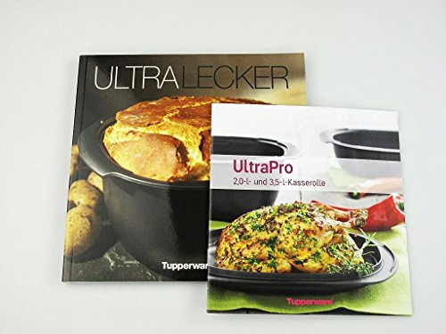 TUPPERWARE Kochbuch Ultra Lecker + Rezeptheft UltraPro Kasserolle 2,0 L 3,5 L Deutsch