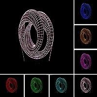 ファッション抽象ダブルリング雰囲気LED3Dテーブルナイトライトムードイリュージョンランプ家の装飾新年の誕生日ホリデーギフト