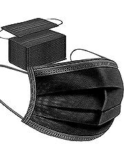 Mondkapje, mondbescherming, mondbescherming, wegwerpmasker, 50 stuks, zwart