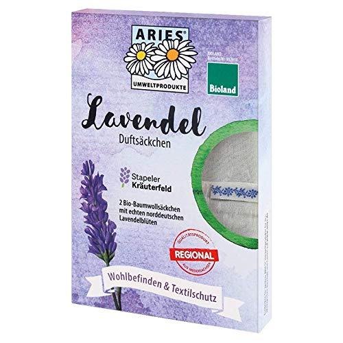 ARIES Umweltprodukte AU009 Sachet parfumé à la lavande bio et fleurs de lavande en biolands