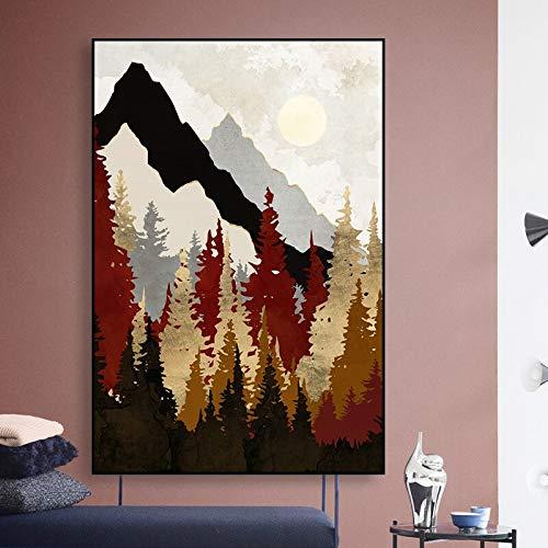 adgkitb canvas Druckplakat Dekoration Leinwand Abstrakte Landschaft Wandkunst Moderne Für Schlafzimmer Bild 58x90 cm KEIN Rahmen