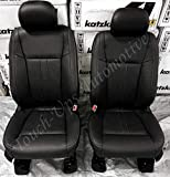 Katzkin Leather Seat Covers Compatible with 2019-2020 Ford F-150 SuperCrew XLT Black Lariat Design