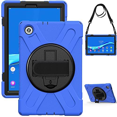 RZL PAD y TAB Fundas Para Samsung Galaxy Tab S4 10.5 S3 S2 9.7 Pestaña A 10.1, PC Caja anti-gota de silicona Correa de hombro Soporte giratorio Cáscara protectora para Samsung Galaxy Tab A 10.5 TAB S5