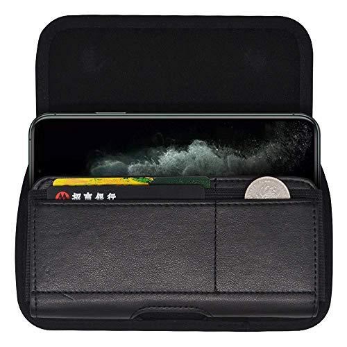 Gürteltasche aus Nylon mit Gürtelclip für iPhone 12 Pro Max, 11 Pro Max, Samsung Galaxy A10S, A31, A30S, A51, S10+, S9 Plus, LG V50, V40, G8X, ThinQ Stylo 5X 5 4, Nokia 7.2 6.2