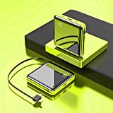 13800mah Power Bank Own iPhone/Micro/Type-C Charge Cable.One of The Smallest and Lightest Power Bank,Ultra-Compact Battery Pack,High-Speed Charging Technology Phone Charger for iPhone Samsung(Green