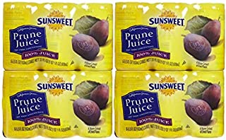 SunSweet Prune Juice 24 Pack Case 5.5 Ounce Cans