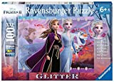 Ravensburger 12868 Disney Frozen 2 - Strong Sisters - 100 Piece Jigsaw Puzzle with Glitter for Kids - Every Piece is Unique - Pieces Fit Together Perfectly, Multi