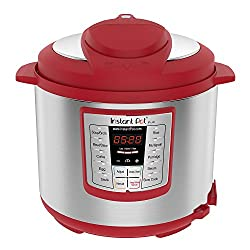 Image of Instant Pot Lux 6 Qt Red 6 in 1 Muti Use Programmable Pressure Cooker, Slow Cooker, Rice Cooker, Sauté, Steamer, and Warmer: Bestviewsreviews
