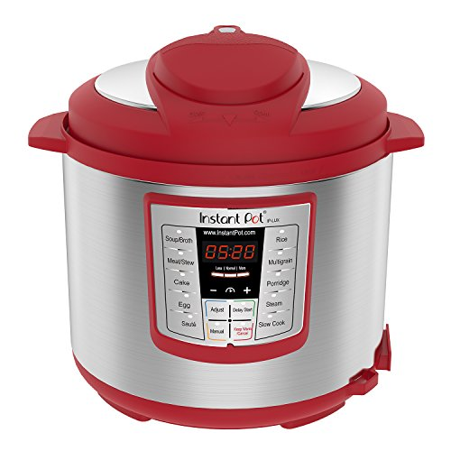 Instant Pot Lux 6-in-1 Electric Pressure Cooker, Slow Cooker, Rice Cooker, Steamer, Saute, and Warmer|6 Quart|Red|12 One-Touch Programs