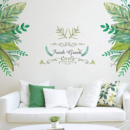 Nordic Minimalist Style Green Leaf Fresh Green Garden Plant Skirting Board for Home Living Room Girls Bedroom Offices