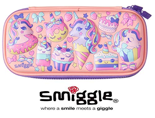 Smiggle Small Super Cool Hardtop Pencil Cases with Embossed Detailing - Unicorn