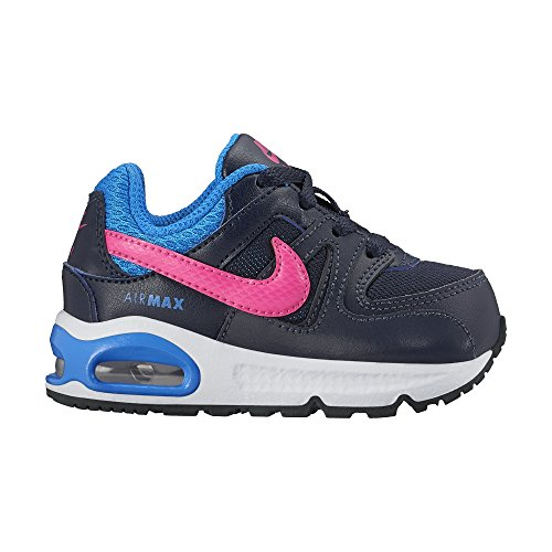 Nike Boys' Air Max Command (TD) Trainers, Multicolor - Negro / Rosa / Azul (Obsidian / Pink Pow-Photo Blue), 5 Child UK