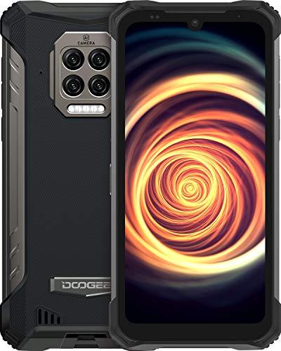 DOOGEE S86 (Offiziell) Outdoor Handy 108MP UHD+16MP 8500mAh Akku Smartphone Ohne Vertrag 6GB+128GB Android 10 2W Lautspreche Wasserdichter IP68 2021 Outdoor Smartphone (Schwarz)