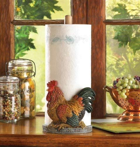 Rooster Themed Paper Towel Holder
