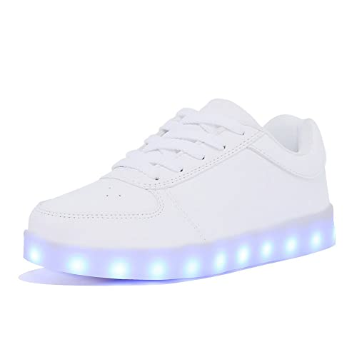 CIOR LED Light up Shoes 11 Colors Flashing Rechargeable Sports Dancing  Sneakers for Mens Womens Boys 98220602d