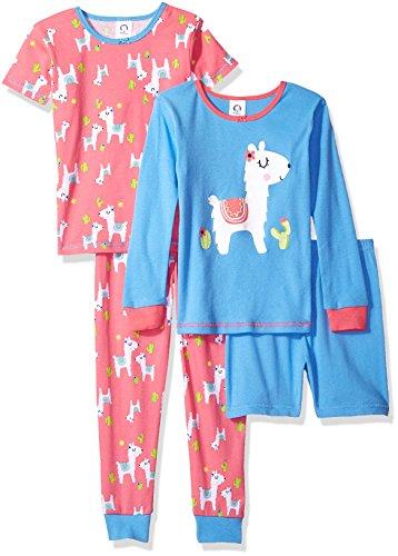 Product Image of the GERBER Baby Girls' 4-Piece Pajama Set, Llama, 12 Months