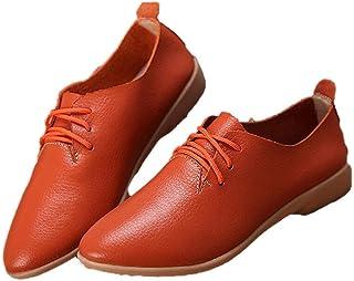 WenHong Womens Shoe Classic Lace Up Dress Low Flat Heel Oxford