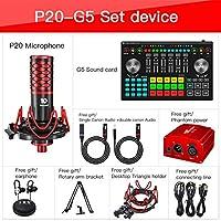 サウンドミキサーボード複数の効果音が付いているライブストリーミングボイスチェンジャーサウンドカードの特殊効果オーディオミキサー (Color : G5 WITH P20)