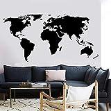 Gran mapa del mundo enseña vinilos adhesivos de pared calcomanías de pared para sala de juegos