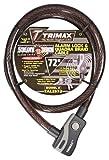 Trimax Alarmed Lock & Quadra-Braid Cable 6' L X 25Mm TAL2572, Card Packaging