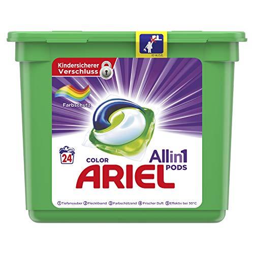 Ariel All-in-1 PODS Color Farbschutz, 24Waschladungen