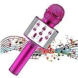 Micrófono para niños, Micrófono para niños para cantar, Micrófono inalámbrico Bluetooth con...