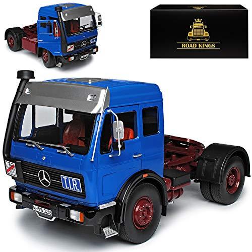 KK-Scale Road Kings Mercedes-Benz NG 1632 Blau mit Dunkel Rot 1973-1988 LKW limitiert 1 von 1500 Stück 1/18 Modell Auto
