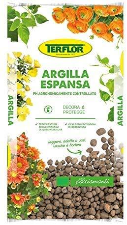 Argilla Espansa 10 Lt per Piante in Vaso Giardino Protezione Drenaggio Acqua 8-20 Mm