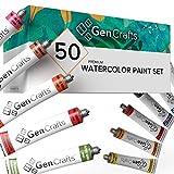 GenCrafts Watercolor Paint Set - Set of 50 Premium...