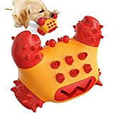 Gesuche Indestructible Dog Toys for Aggressive Chewers,Natural Nylon Rubber Durable Crab Shape Dog Chew Toys,Clean Teeth Improve Intelligence Dog Toys for Small Medium and Large Breed (Red)