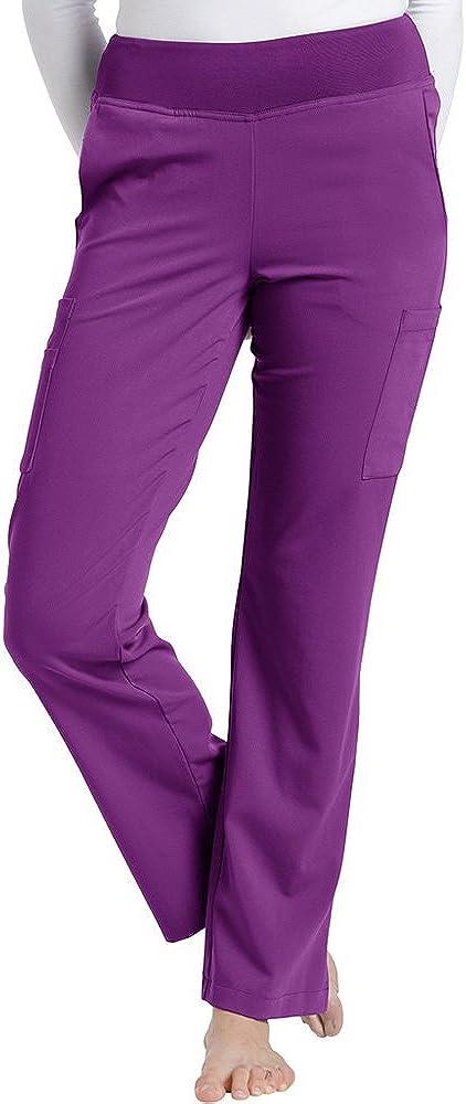 Marvella by New popularity White Cross Women's Elastic Scrub X- Pant Waist Boston Mall Yoga