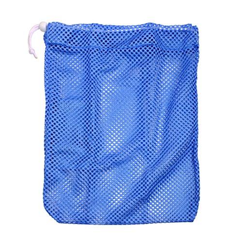 13' x 15' Heavy Duty Laundry Nylon Mesh Stuff Sack Pointe Shoe Bag with Sliding Drawstring Cord Lock Closure Navy Blue