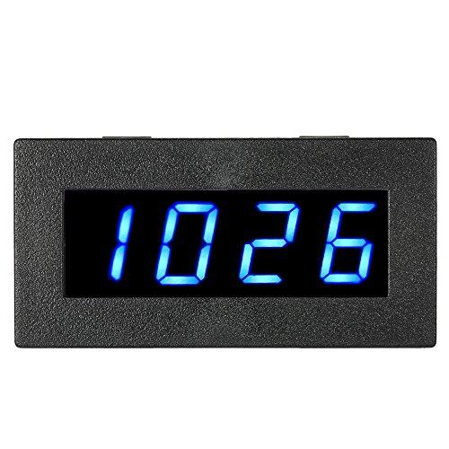KKmoon 0,56 Pouce Tachymètre Numérique de Haute Précision avec LED à 4 Chiffres, Compteur de Vitesse du Moteur de Voiture, Compte-Tours RPM Mesure Testeur 5-9999R / M DC 8-15V-BLEU
