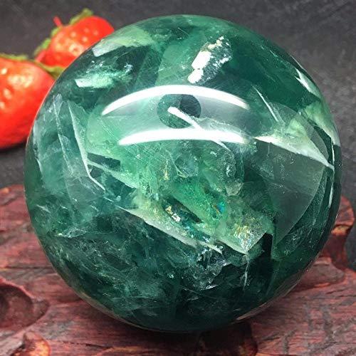CHINABOS Obsidiana de Cristal Bola de Esfera de Cristal de Cuarzo de fluorita Natural curativa, 50,60