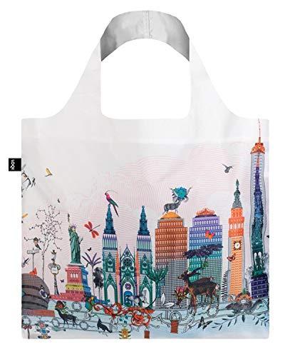 LOQI KW.NY Wiederverwendbare Einkaufstasche, Polyester, new york, Einheitsgröße