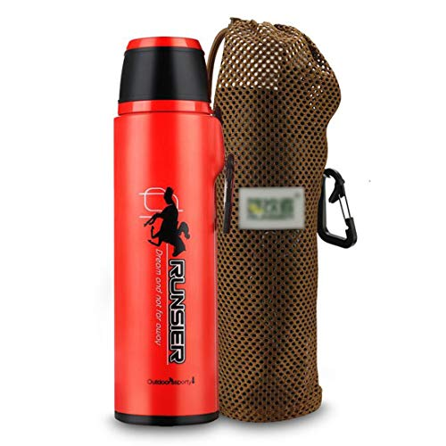 LNLW Coffe Thermosflessen, Contigo Shake And Go, grote capaciteit RVS Sports Cup (Color : Orange, Size : 480ml)