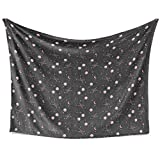 The Starry Night Plush Blanket Fall Winter and Spring Ultra Soft and Fluffy Anti-Pilling Flannel Fleece Perfect for Bed, Sofa, Couch,Gift for Adults Men Women(Size 80' x60)
