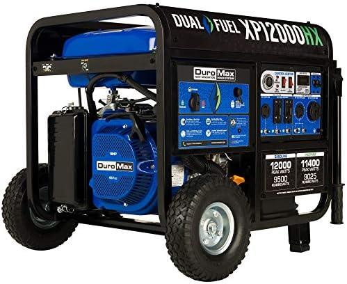 DuroMax XP12000HX Dual Fuel Portable Generator 12000 Watt Gas or Propane Powered Electric Start product image